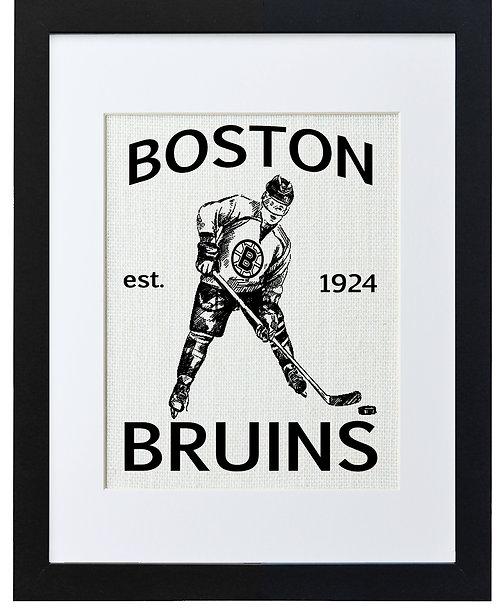BOSTON BRUINS (WHITE BURLAP)
