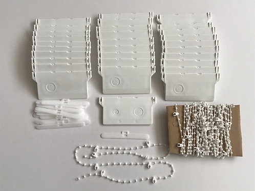 "Vertical blind bottom weights and chain repair kit, for 89 mm / 3.5"" wide slats"