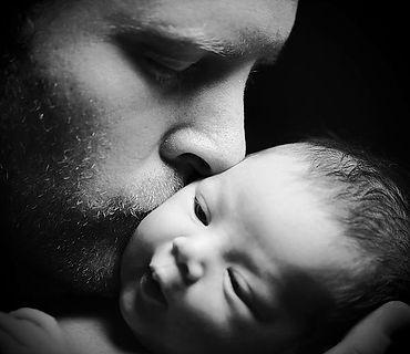 Baby & father B&W.jpg