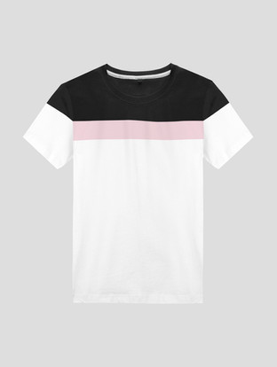 White T-shirt with Pink and Black T-shir