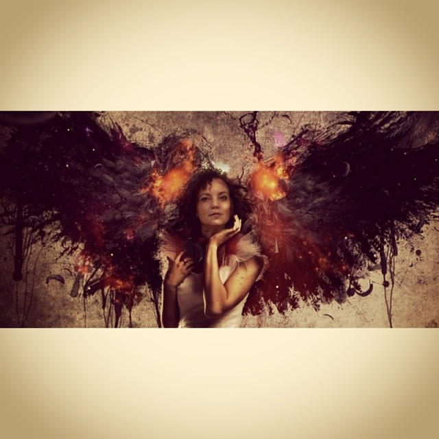 Self Portrait with Wings