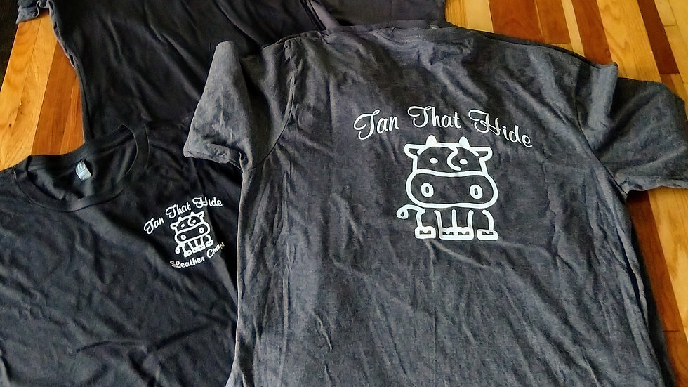 Tan That Hide Tee Shirt soft 50/50 blend