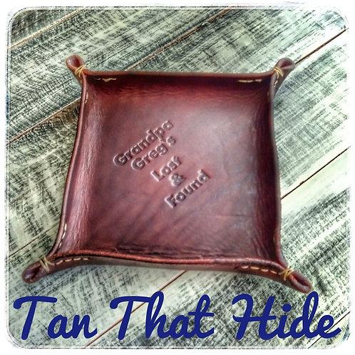 Leather Valet Tray customized
