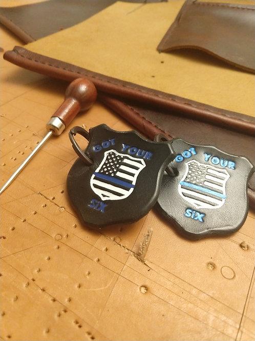 Police Shield Key Ring