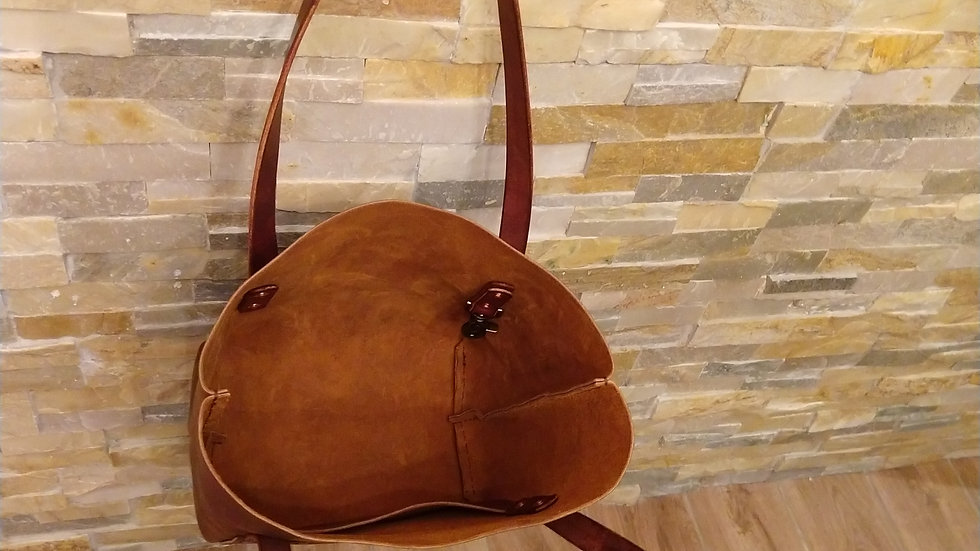Sunset Tan Leather Tote