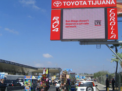 LED#6 Otay Mesa Port of Entry SF over right lane
