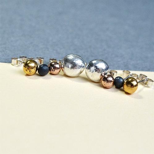 Handmade Pebble Earring Studs