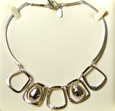Statement sterling silver necklace, commission