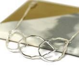 Three interwoven silver leaves bracelet