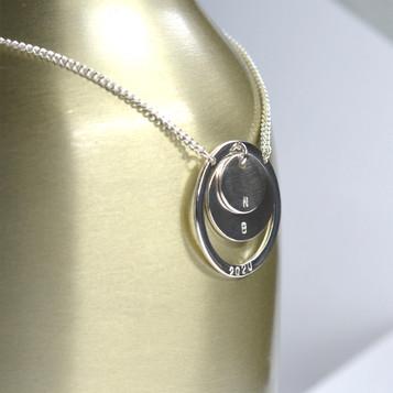 Silver pendant necklace commission