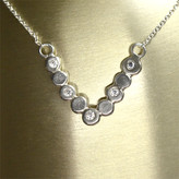 Geometric necklace with stones of your choice