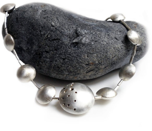 Hollow Silver Statement Necklace
