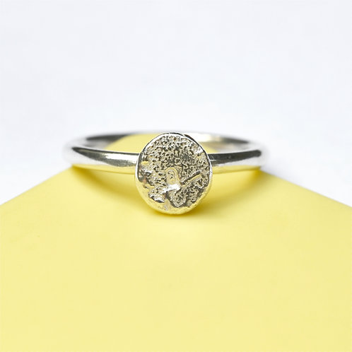 Personalised Handmade Silver Letter Ring