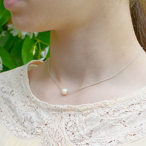 Handmade Silver Antique Pearl Necklace