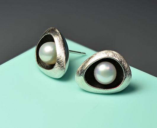 Handmade Jewellery - Silver studs