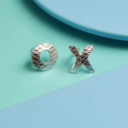 Personalised Initial silver stud earrings