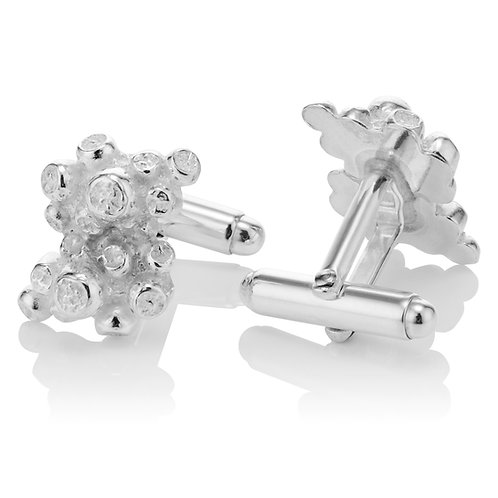 Handmade Coral Inspired Solid Silver Cufflinks