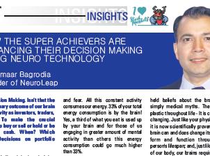 Kumaar Bagrodia, NeuroLeap writes for  BSE Bombay Stock Exchange Brokers Forum magazine