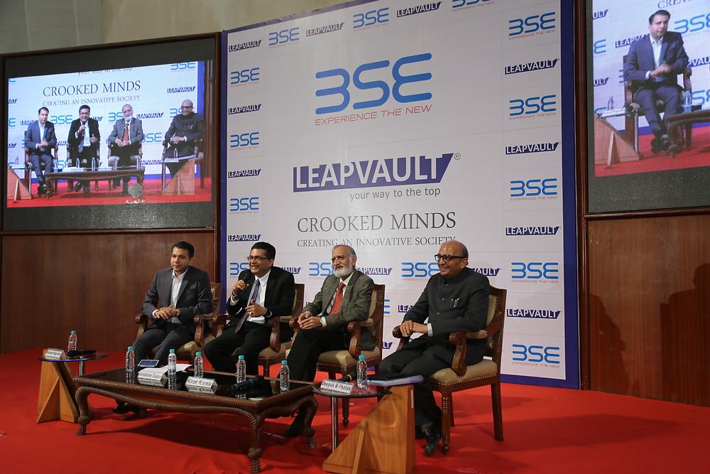 Kumaar Bagrodia, chairs panel at Bombay Stock Exchange with Ashish Chauhan, Kiran Karnik & Dr Phatak