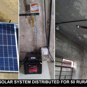 OFF GRID SOLAR SYSTEM DISTRIBUTED FOR 50 RURAL SCHOOLS