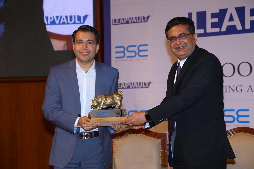 Kumaar Bagrodia speaks at BSE Bombay Stock Exchange