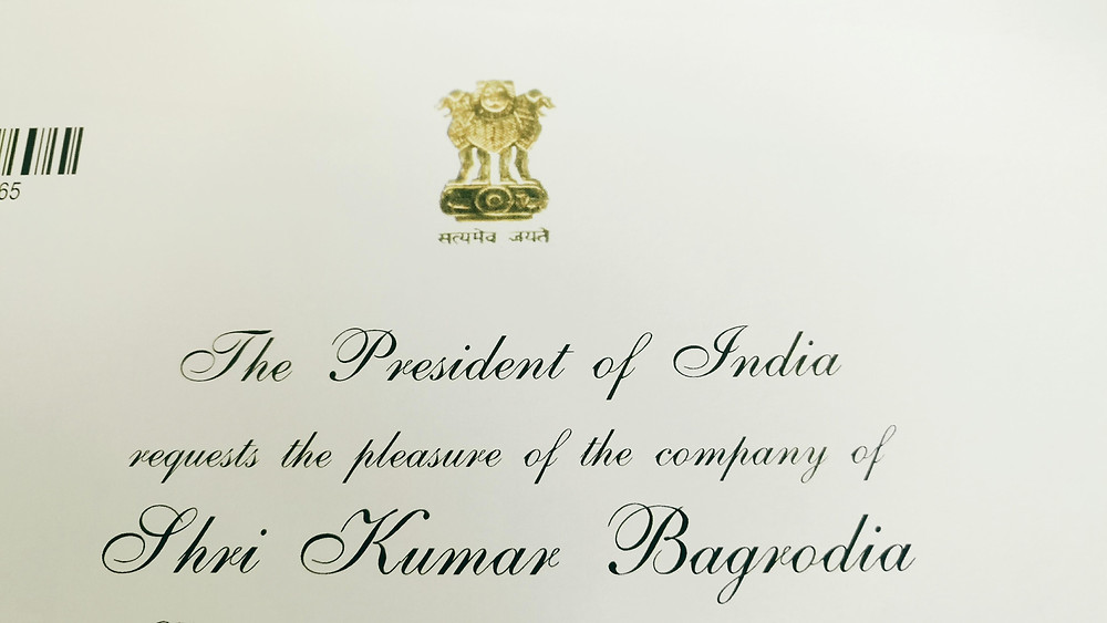 Kumaar Bagrodia, Neuroleap invited by Hon'ble President of India to the Rashtrapati Bhavan