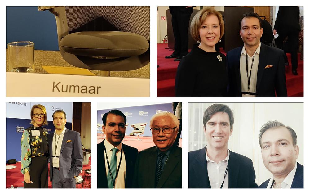 Kumaar Bagrodia, NeuroLeap chairs session at Global Peter Drucker forum, Vienna