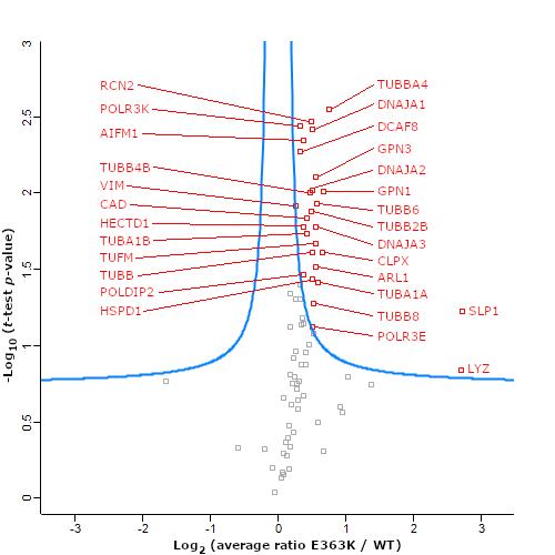 Differential Interactome of POLR3B-E363K