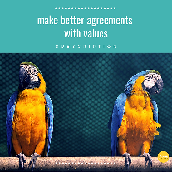 Make Better Agreements with Values