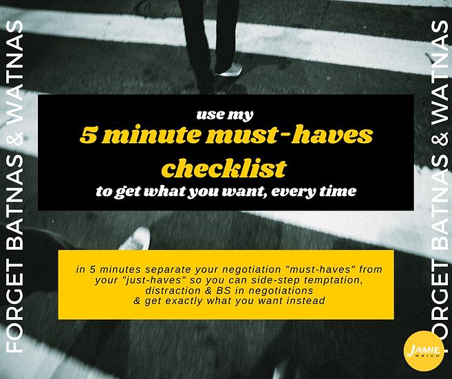 5 Minutes Must-Haves Checklist (Just the Checklist)