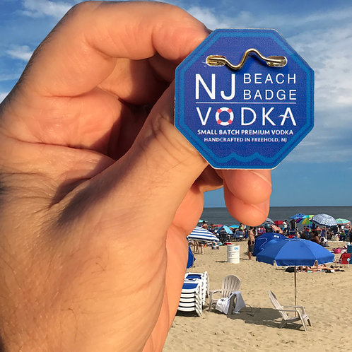 NJ Beach Badge Vodka Collectible Beach Badge - Quantity of 10 badges