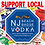 Thumbnail: Support Local NJ Beach Badge Vodka Coasters