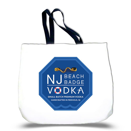 NJ Beach Badge Vodka White Tote Bag