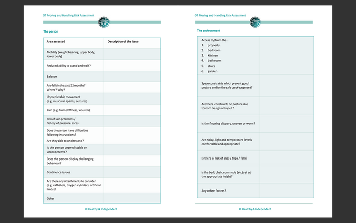 Risk Assessment and Care Plans