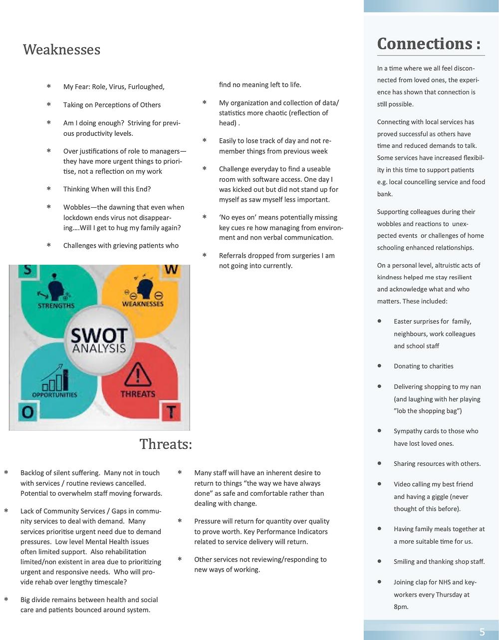 A Reflective Account of the Social Prescriber role, through COVID-19