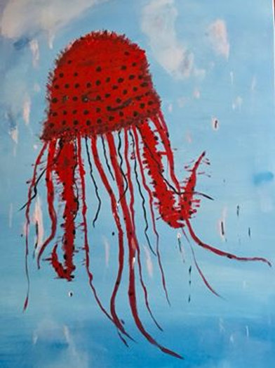 Jellyfish Painting with Judy  Sept 9
