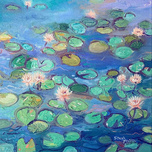 Oil Painting Water Lilies - Sept 27
