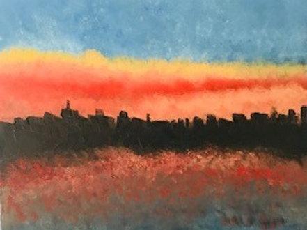 Sunset at Belgium