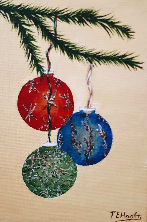 Christmas Ornaments painting