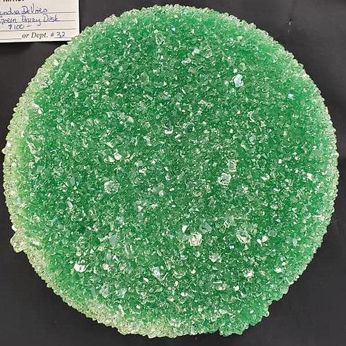 Green Druzy Disk