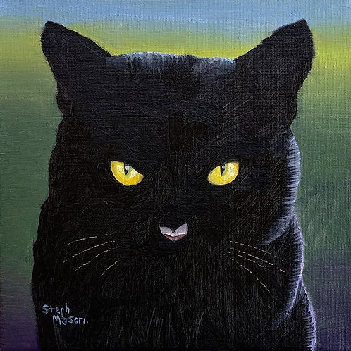 Oil Paint Class - Black Cat - Oct 18