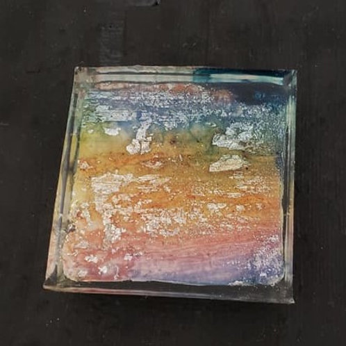Resin Tile on Canvas