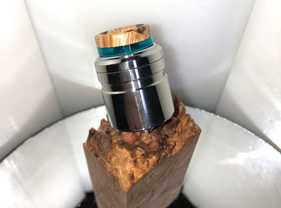 Blue resin with stab wood top