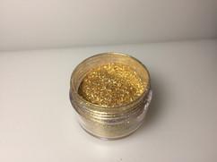 Pale gold glitter