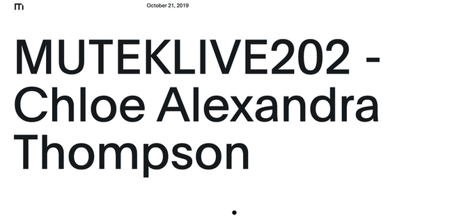 MUTEKLIVE recording release 2020