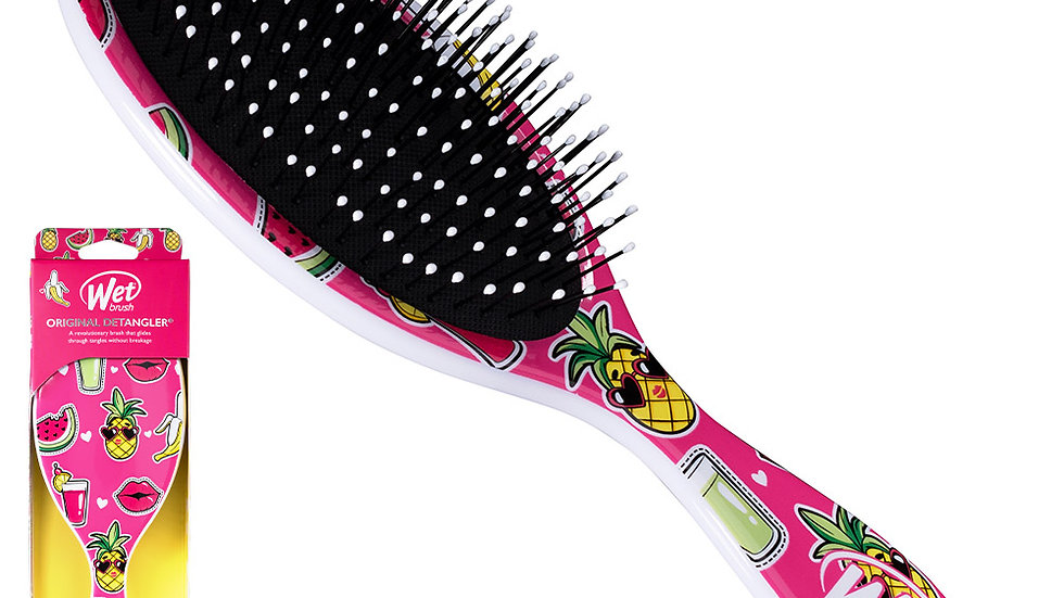 WetBrush Happy Hair Detangling Hair Brush Smiley Pineapple