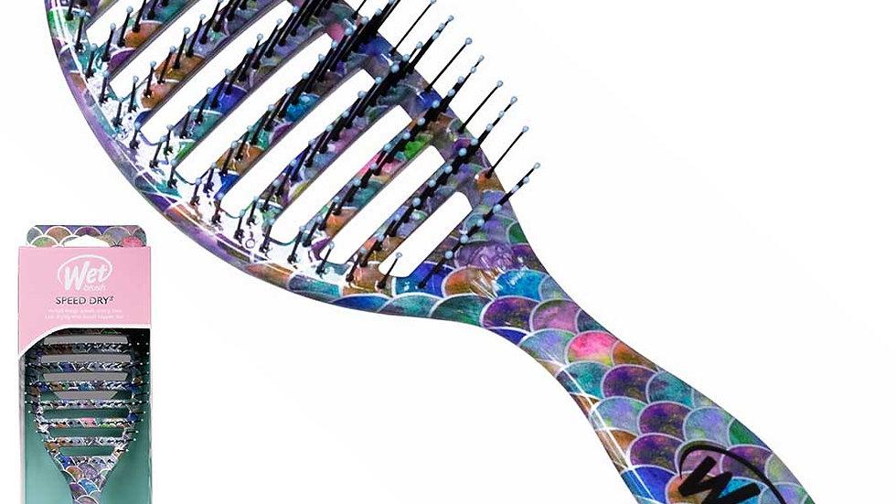 WetBrush Treasured Waters Speed Mermaid Tail Dry Hair Brush