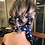 Thumbnail: Hokey Pokey Navy Hair Scarf