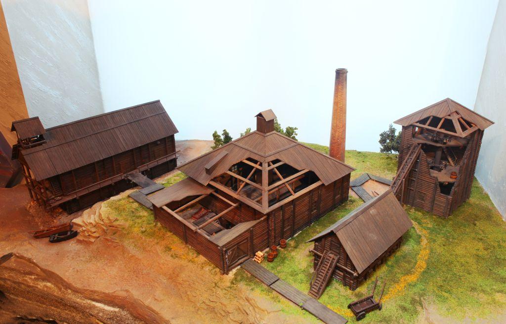 Макет солеваренного завода 18 века