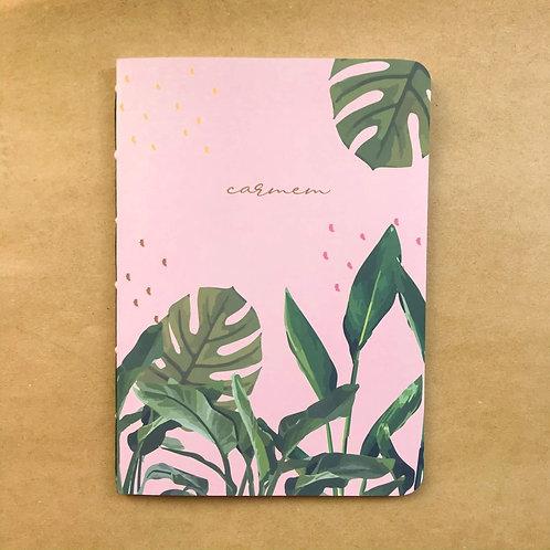 Caderninho Tropical Rosa